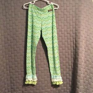 NWOT Green Matilda Jane Ruffle Pants, Girls' size4